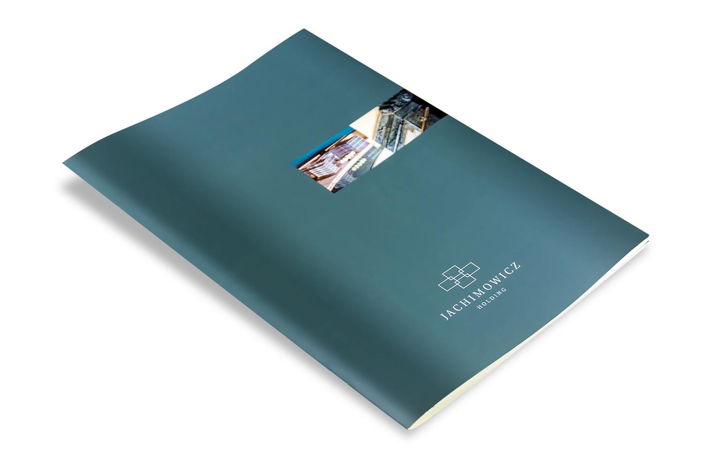 Aufwändige Imagebroschüre mit Spotlack