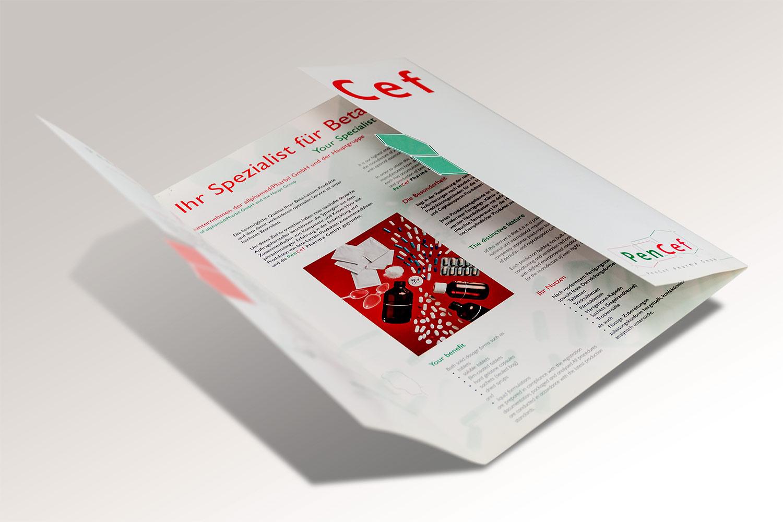 Imagebroschüre für ein Unternehmen aus der Pharmabranche