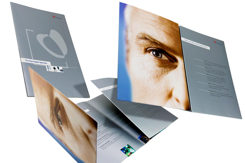 Imagebroschüre für ein sehr innovatives Unternehmen aus der Medizintechnik