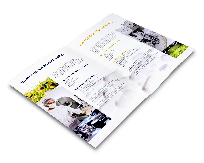 Imagebroschüre für einen Pharmahersteller