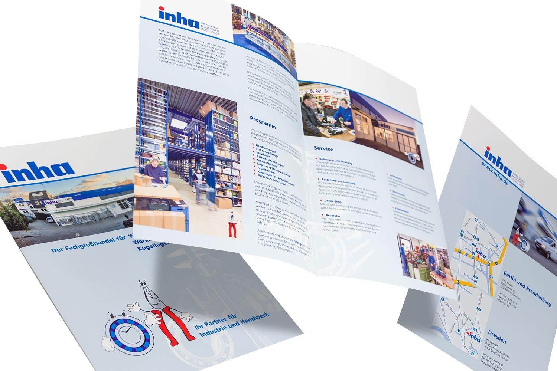 Imagebroschüre für ein Unternehmen aus dem Bereich Werkzeug und Maschinen