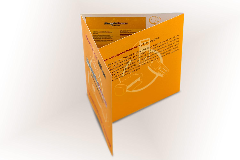 Folder, Broschüre und Verpackung für PeopleServe / NIKON
