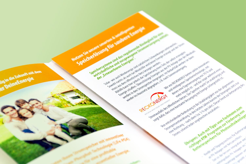 Broschüre für ein Unternehmen aus der Energiebranche