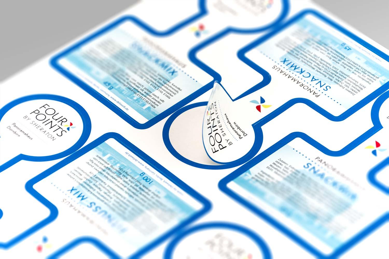 Privat Labels nach CD Handbuch für ein Sterne Hotel