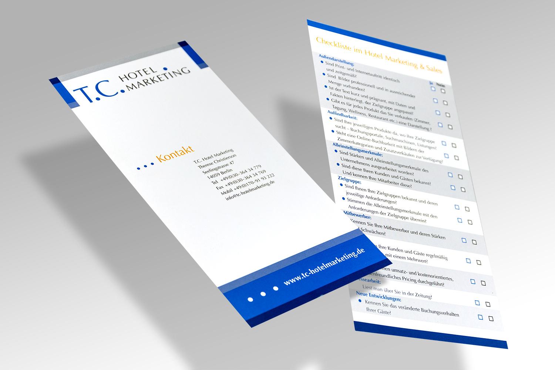 Folder für ein Marketingunternehmen