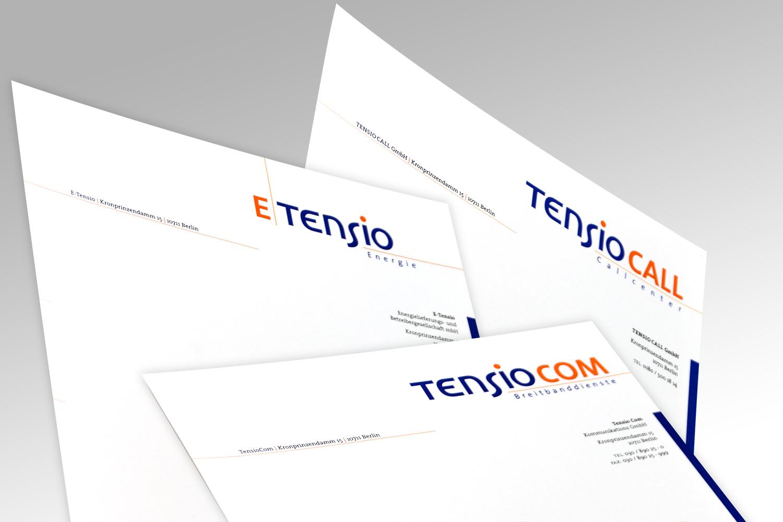 Geschäftsausstattung für eine Unternehmensgruppe aus dem Bereich Kommunikation, Facility Management und Energie