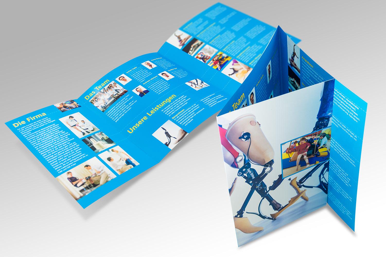 Imagebroschüre für ein Unternehmen aus dem Bereich Orthopädietechnik