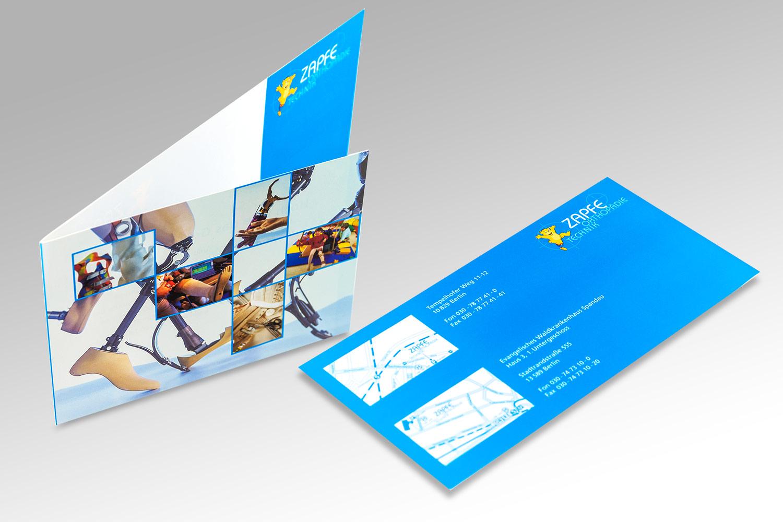Drucksachen für ein Unternehmen aus dem Bereich Orthopädietechnik